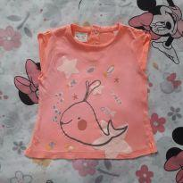 Blusa Neon Narwhal (item 405) - 9 a 12 meses - Zara Baby