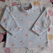 Blusa Soft ovelinhas (item 257) - 6 a 9 meses - Dedeka