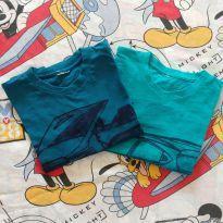 Kit 02 camisetas carrinhos (item 519) - 4 anos - Artesanal