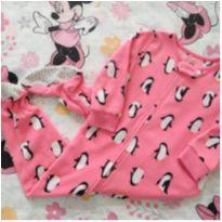 Macacão fleece pinguim (item 608) - 18 a 24 meses - Carter`s