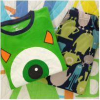 Pijama Monstros S.A. (item 633) - 6 anos - Importado