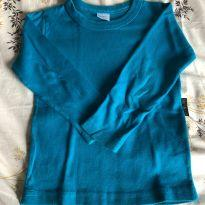 Camiseta Manga Comprida Azul - 4 anos - BB Básico