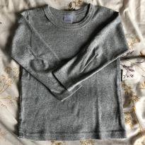 Camiseta Manga Comprida Cinza - 4 anos - BB Básico