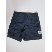 83 Short de brim azul marinho - 6 a 9 meses - Koala Kids