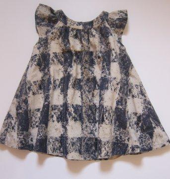 119 Vestido Azul Marinho e bege Gap - 3 a 6 meses - Baby Gap