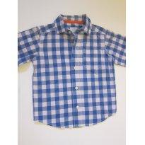 139 Camisa manga curta xadrez azul 3T Carters - 3 anos - Carter`s