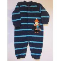 136 Pijama plush Azul Marinho (Pinguim) - 9 meses - Carter`s