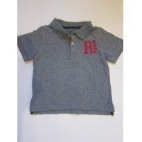 138 Camisa Polo cinza 24M Carters - 2 anos - Carter`s