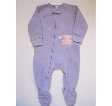 129 Pijama plush lilás Carters 6M bordado - 6 meses - Carter`s