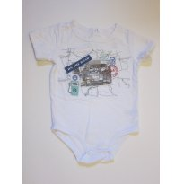 149 Body de manga curta branco - 6 a 9 meses - Koala Kids