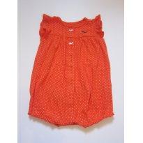 126 Macaquinho laranja 9M Carters - 9 meses - Carter`s