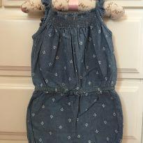 170 Macacão jeans - 9 a 12 meses - Baby Gap