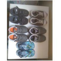 Lote de tênis menino- 22, 23 e 24 - 22 - Nike e New Balance