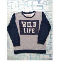 Blusa moletom Wild Life (item 449) - 6 anos - Fuzarka
