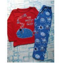 Pijama monstrinhos (item 484) - 6 anos - HOT DOG