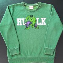 Blusa moleton Hulk (item 613) - 8 anos - MARVEL