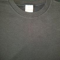 Blusa moleton básica preta (item 636) - 8 anos - Brandili