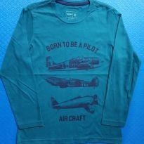 Camiseta Aviões (item 659) - 8 anos - Fuzarka