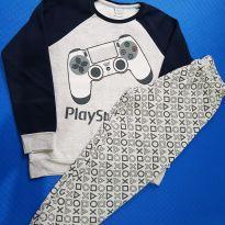Pijama moleton PlayStation (item 669) - 7 anos - PlayStation
