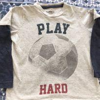 Camiseta ML Play hard - 4 anos - Fuzarka