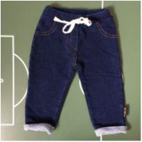 Calça Moletom Jeans BB Basico - 6 a 9 meses - BB Básico