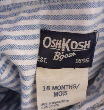 Body camisa listradinho oshkosh - 18 meses - OshKosh