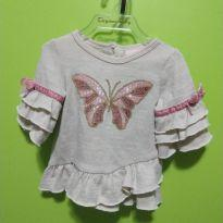 Blusa com borboleta (produto importado) - 3 a 6 meses - Little Lass