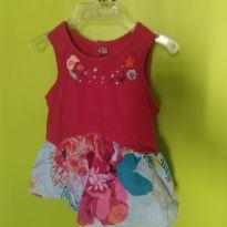 Vestido Corais - 6 meses - Catimini