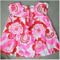 Blusa Rosa estampada de flores - 18 a 24 meses - Carter`s