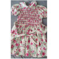 Vestido flores rosas - 5 anos - Sem marca