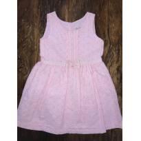 Vestido em Laise Rosa Bebê - Tam 12 a 18 Meses - 12 a 18 meses - Baby Way