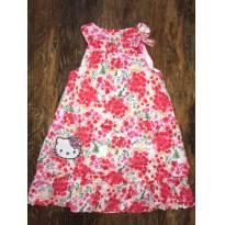 Vestido Floral Vermelho Hello Kitty - Tam 3 - 3 anos - Hello  Kitty