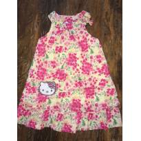Vestido Floral Rosa Hello Kitty - Tam 3 - 3 anos - Hello  Kitty
