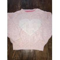 Blusa de Lã Coração - Tam 2 - 2 anos - Baby Club