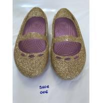 Sapatilha CROCS Flat Dourada - C6 (24) - Cód: SHOE006 - 24 - Crocs