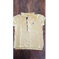 Camiseta Gola Babadinho Amarela - Ralph Lauren - 3 anos - Ralph Lauren