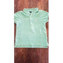 Camiseta Gola Babadinho Verde Ralph Lauren - 2 anos - Ralph Lauren