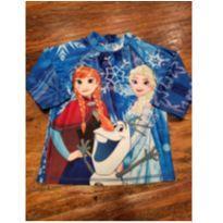 Camiseta Proteção Solar Frozen - Tam 4 - 4 anos - Disney