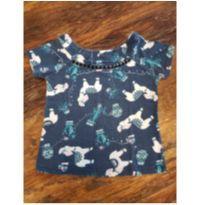 Camiseta Lhama Azul