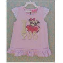 CAMISETA MOMI CACHORRINHO I LOVE YOU - 4 anos - Momi