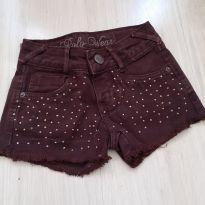 Shorts de Sarja com apliques - 4 anos - Polo Wear