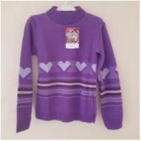 Blusa de lã lilás menina , Tam 6 - 6 anos - Eble Buzzi