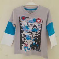 Camiseta manga longa Tigor e Tigre Baby, Tam 2p - 2 anos - Tigor Baby