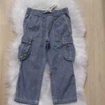 Calça Jeans com bolsos H&M , menino Tam 3-4 - 3 anos - H&M