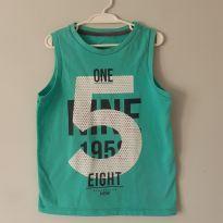 Camiseta regata verde claro, Palomino Tam 4 - 4 anos - Palomino