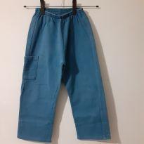 Calça de moletom flanelado azul, para o dia a dia - 6 anos - Kyly