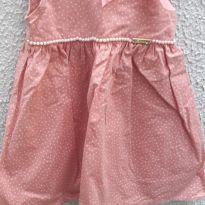 Vestido poá - 2 anos - Artesanal