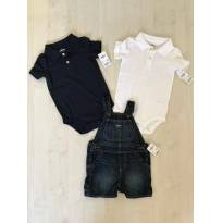 OSH KOSH NOVO 18 meses! conjunto 2 bodies + jardineira jeans NOVOS COM ETIQUETA