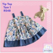 Vestido Alcinha TipTop - Tam 1 ano - 1 ano - Tip Top