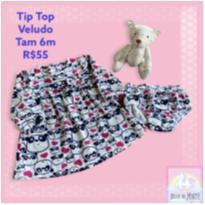 Vestido Tip Top Ursos - 6 meses - Tip Top